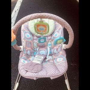 Baby bouncer light brown monkey theme